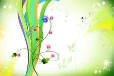 Free Green Colorful Tree Stock Image - 13605981