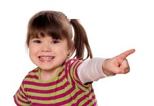 Free Funny Little Girl Stock Photography - 13606182