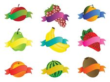 Free Collection Of Fruit Icons Stock Photography - 13606372