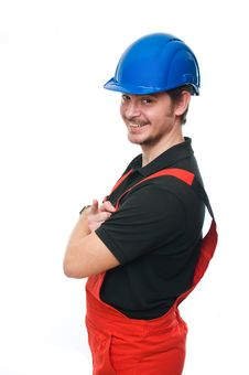 Free Portrait Of A Construction Worker Royalty Free Stock Photos - 13607478