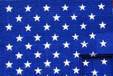 Free Painted America Flag Graffiti Stars Royalty Free Stock Photography - 13608457