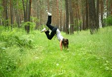 Free The Girl In A Wood Stock Photos - 13608683