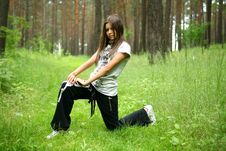 Free The Girl In A Wood Royalty Free Stock Images - 13608699