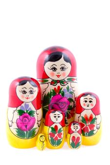 Free Group Of Russian Nesting Dolls Stock Image - 13608751