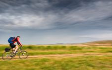 Free Biker In Motion Stock Photo - 13608870