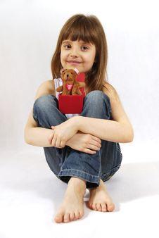Free Sitting Girl Stock Image - 13609351