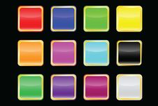 Free Vector Popular Color Buttons Stock Images - 13609454