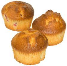 Free Three Cupcake Stock Photography - 13609492