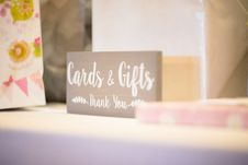 Free Cards & Gifts Thank You-printed Wooden Decor Stock Image - 136045161