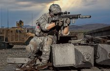 Free Soldier, Military, Army, Firearm Stock Photo - 136081380