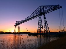 Free Bridge, Transporter Bridge, Dawn, Dusk Royalty Free Stock Image - 136081486