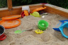 Free Sandpit, Outdoor Play Equipment, Play, Table Stock Images - 136081554