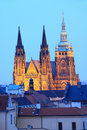 Free Colorful Prague Gothic Castle In The Night Stock Image - 13610401