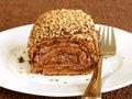 Free Chocolate Cake On Plate Stock Photos - 13612813