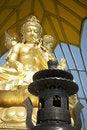 Free Golden Buddha And Black Incense Burner Stock Photos - 13613903