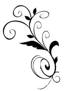 Free Black Leaves Pattern Stock Photo - 13610040