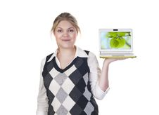 Attractive Blond Business Woman Royalty Free Stock Images