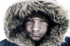 Guy In Winter Hood Stock Image