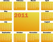 Free Calendar For 2011 Stock Photos - 13610113