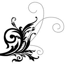 Free Black Leaves  Pattern Royalty Free Stock Photography - 13610467