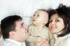 Free Happy Family - Father, Mother And Baby Stock Photography - 13610532