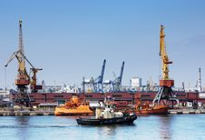 Free Trading Port Royalty Free Stock Images - 13610609