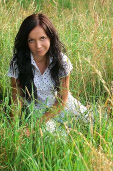 Portrait Of Girl Of Brunette Stock Images
