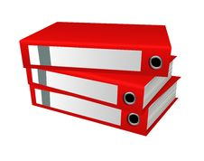 Free Red Office Folders Stock Image - 13611011