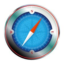 Free Steel Detailed Compass Royalty Free Stock Image - 13611876
