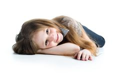 Free Beautiful Little Girl Lie Stock Images - 13612024