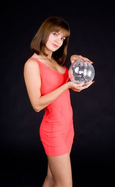 Free Girl With Discoball Stock Photo - 13612120