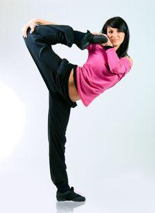 Free Dancer Girl Royalty Free Stock Photos - 13612288