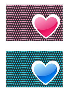 Free Heart. Abstract Emblem With Pattern Stock Photos - 13612653