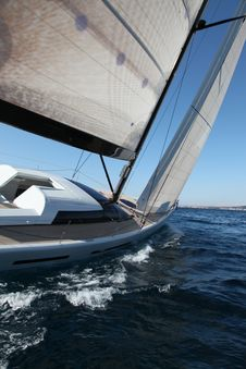 Free Sailing On The Adriatic Sea Royalty Free Stock Images - 13612689