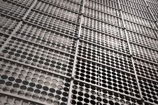 Steel Wall With Hole Royalty Free Stock Photography