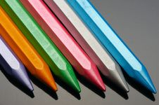 Free Pearl Wax Crayons. Stock Images - 13613074