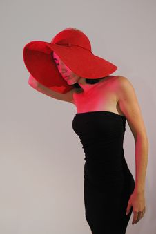 Free Stylish Lady Wearing Hat Stock Images - 13613424