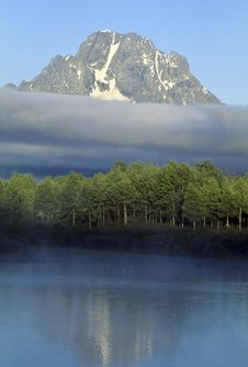 Free Mt. Moran Morning, Teton National Stock Photo - 13613760