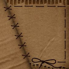 Free Old Cardboard Background For Design With Rope Royalty Free Stock Images - 13613819