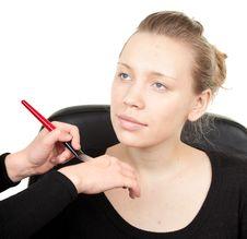 Free Makeup Process  Shot �21 Stock Images - 13614184