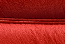 Free Red Leather Texture Stock Image - 13614281