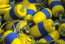 Free Rope And Crab Trap Buoys Royalty Free Stock Photography - 13614507