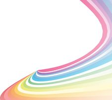 Colorful Creative  Rainbow Wave Royalty Free Stock Images