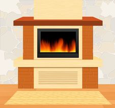 Free Fireplace Royalty Free Stock Photo - 13615355