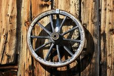 Free Wooden Wagon Wheel Stock Image - 13615381