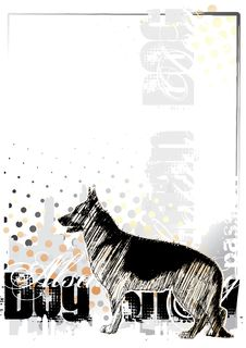 Free Alsatian Dog On The Vertical Poster Royalty Free Stock Images - 13615729