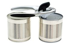 Free Cans And Can-opener Stock Photos - 13615933