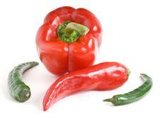 Pepper Still Life Stock Photo