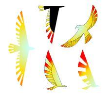 Free Birds Icons Set Stock Photos - 13617523