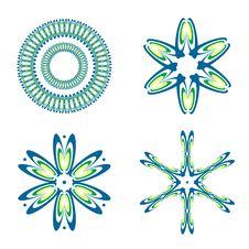 Free Decorative Design Elements. Set 2. Royalty Free Stock Photo - 13617645
